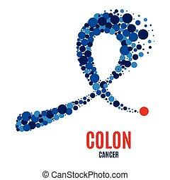 conscience, deux points, ribbon., cancer