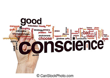 Conscience word cloud concept - Conscience word cloud