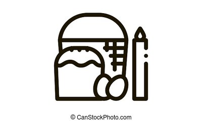 consecration of aster and eggs icon outline illustration