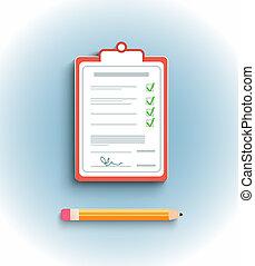consegna, appartamento, appunti, disegno, firma