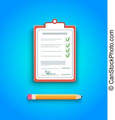 consegna, appunti, firma