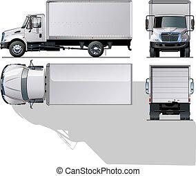consegna, /, camion carico