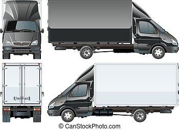 consegna, camion carico