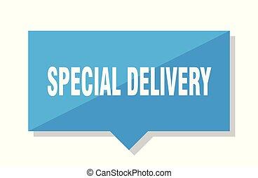 consegna, cartellino del prezzo, speciale