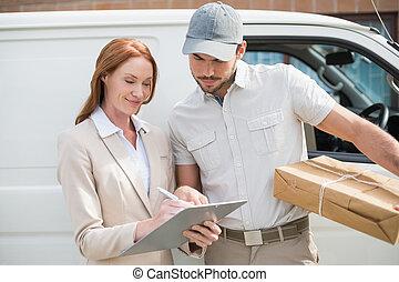 consegna, esposizione, driver