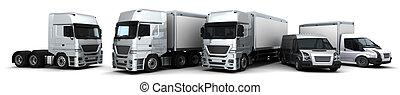 consegna, flotta, veicoli