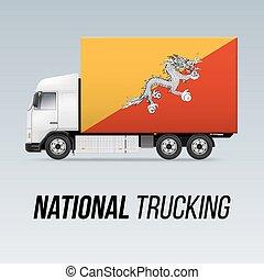 consegna, nazionale, camion