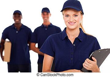 consegna, professionale, servizio, personale