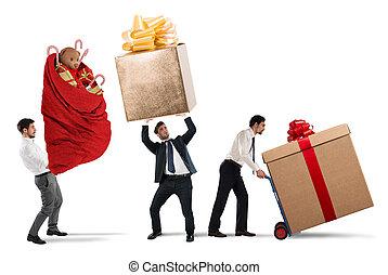 consegna, regali, natale