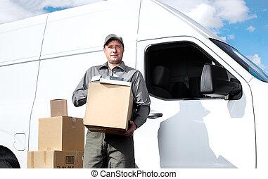 consegna, servizio postale, man.