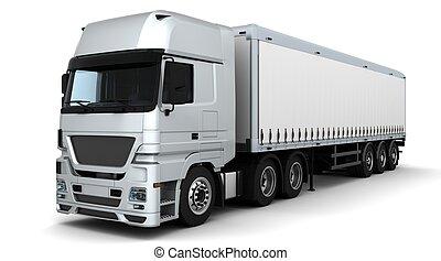 consegna, veicolo carico