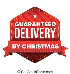 consegna, vettore, guaranteed, natale