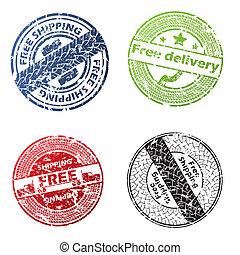 consegna, vettore, liberare, sigillo