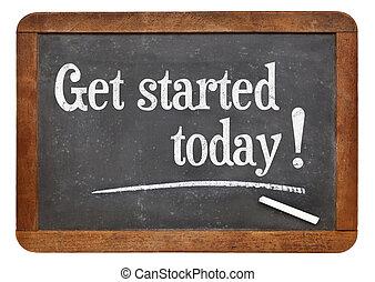 conseguir, started, hoy, -, motivación, concepto