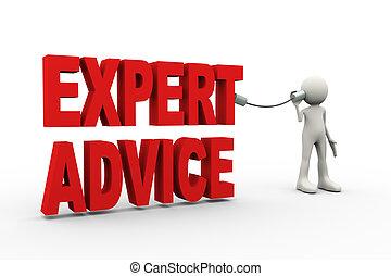 conseil, 3d, écoute, expert, homme