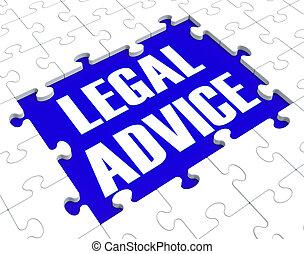 conseil, avocat, projection, légal, conseiller, puzzle