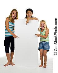 conseil blanc, femelles, trois, jeune