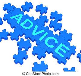 conseil, projection, direction, puzzle, soutien