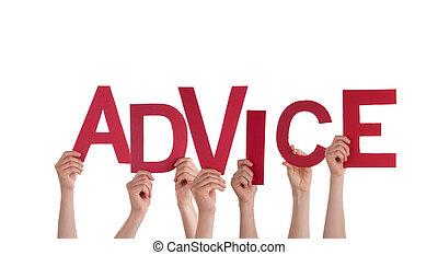 conseil, tenant mains