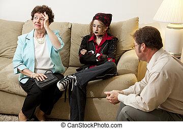 conseiller, -, crise, famille