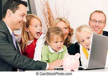 conseiller, finance, assurance, -, famille