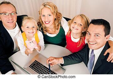 conseiller, -, finance, famille, assurance
