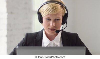 conseiller, travail, helpline