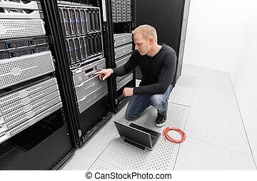 conseiller, travail, il, datacenter