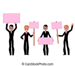 conseils, business, jeune, procès, hommes, hommes affaires, ...
