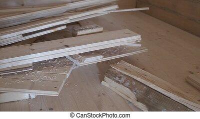 conseils, floor., émondage, bois, construction