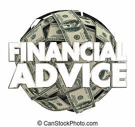consejero, financiero, servicio, dinero, consejo, ilustración, inversión, 3d