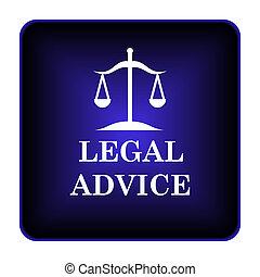 consejo, legal, icono