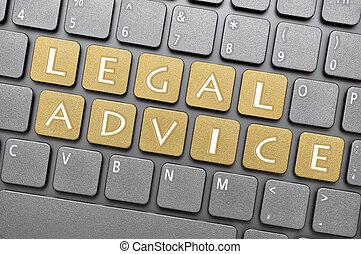 consejo, legal, teclado