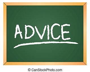 conselho, palavra, ligado, chalkboard