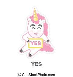 consentir, isolé, unicorn.