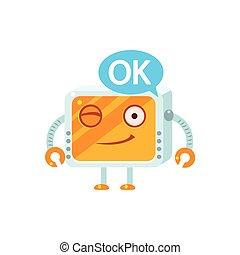consentir, peu, caractère, robot
