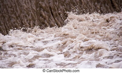 Consequence of a Powerful Cyclone - Powerful streams of...