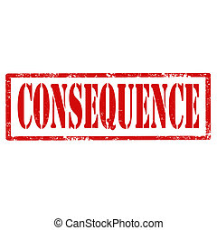 Consequence-stamp - Grunge rubber stamp with text...