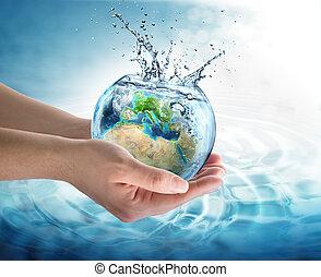conservação água, em, europa