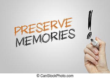 conserva, memorie, scrittura mano