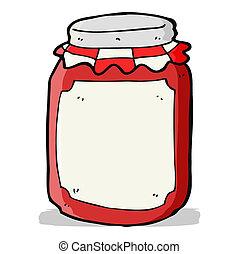 conserva, tarro, caricatura