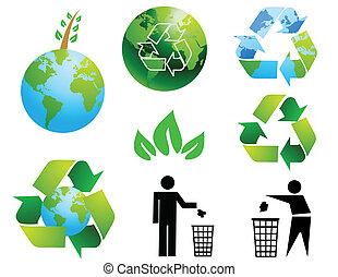 conservación ambiental, símbolos