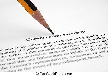 conservación, easement