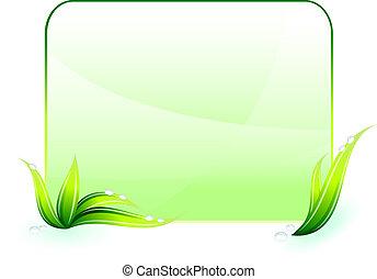 conservation environnementale, arrière-plan vert