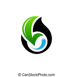conservation of oil fields sign - Branding identity...