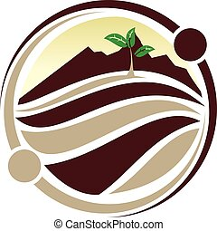 Conservation recycle Logo Design Template Vector