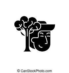 Conservationists black icon, vector sign on isolated...