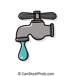 Conserve water to protect the environment doodle