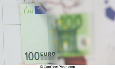Consider a banknote of one hundred euros, an increase with a magnifying glass.