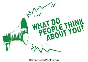 considerations, concepto, gente, mensaje de texto, altavoz, ...